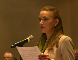 Jillian Fry testifying about the Dietary Guidelines, March 24, 2015.