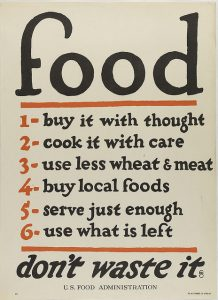 World War I-era poster by the U.S. Food Administration